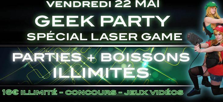 geek party laser game illimit toulouse vendredi 22 mai 2015 soir es geek and co. Black Bedroom Furniture Sets. Home Design Ideas