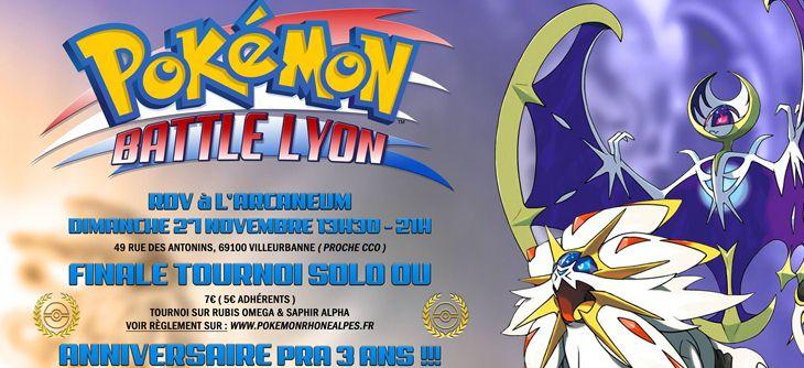 Bekannt Anniversaire Pokémon Rhône-Alpes - Sortie Soleil et lune  XD69