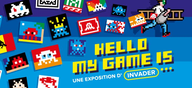 Hello my game is - expo d'Invader au Musée en Herbe
