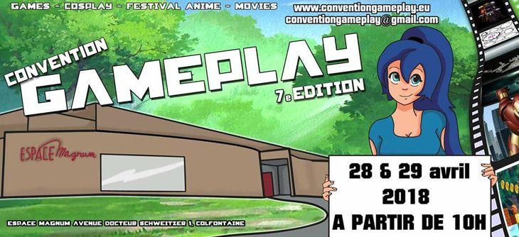 Convention Gameplay 2018 - 7ème édition du salon du jeu vidéo