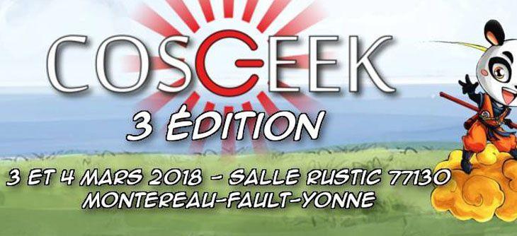 Convention Cosgeek 2018 - troisième édition