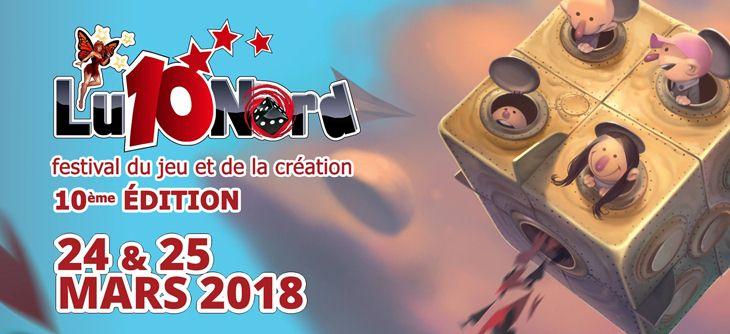 Ludinord 2018 - les 10 ans du festival du Jeu et de la Création