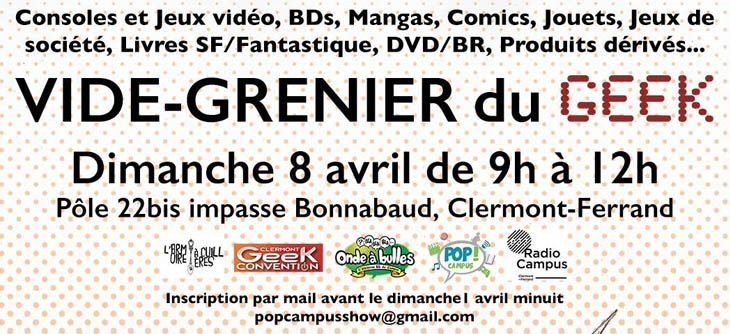 Vide-Grenier du Geek de Clermont-Ferrand #3bis