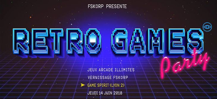 Retro Games Party GameSpirit Lyon