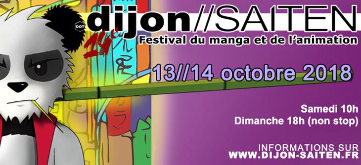 Dijon Saiten 2018 - 14ème festival manga et animation