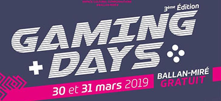 Gaming Days 2019 - Jeux Vidéo et Arts Numériques