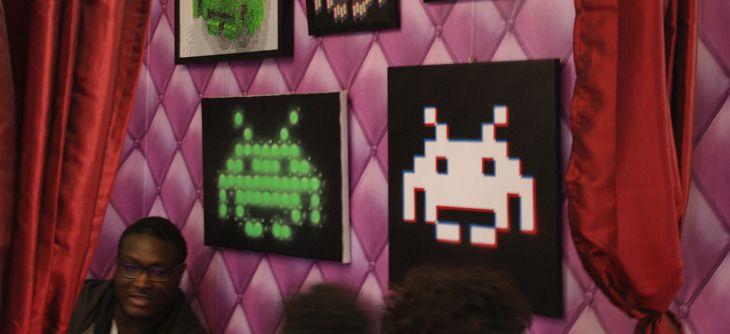Exposition de peintures sur le thème Space Invaders