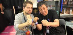 Yoshihisa Kishimoto et Florent Gorges en dédicace à Retrogame Shop
