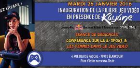 Inauguration de la filière Jeu Vidéo avec Kayane
