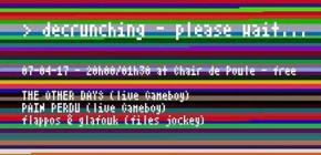 Decrunching please wait - Soirée Chiptune avec FJ Glafouk, Pain Perdu, et The Other Days