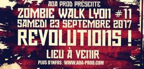 Zombie Walk Lyon 2017 - onzième édition de la marche des Zombies lyonnais