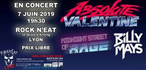 Live - Absolute valentine - Midnight Street of Rage - Billy Mays band