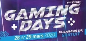 Gaming Days 2020 - Jeux Vidéo et Arts Numériques