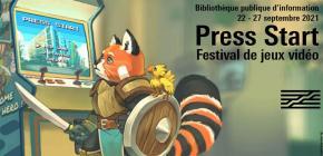Press Start - édition 2021 du Festival de jeux vidéo à la Bpi