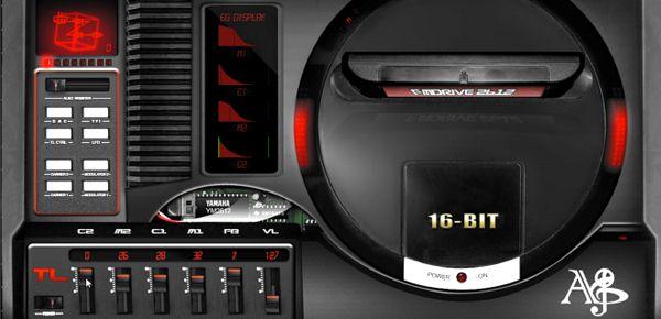 Le synthétiseur Sega Megadrive.