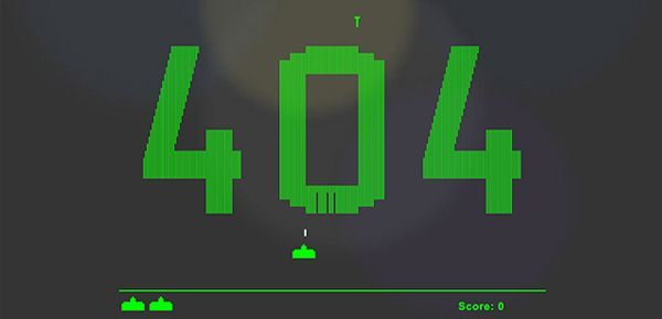 Page 404 Space Invaders