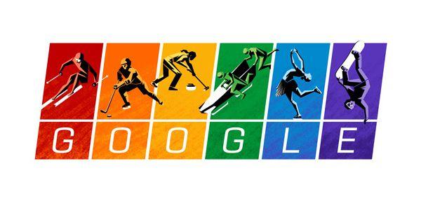 Un Doodle Google arc en ciel contre le délire olympique de Poutine