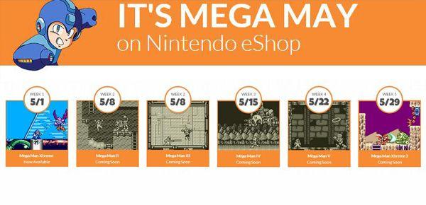 Salve de dates pour Mega Man Nintendo 3DS