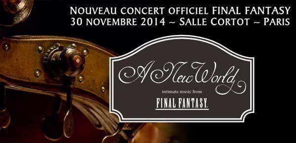 Un tout nouveau concert autour des thèmes de Final Fantasy en Novembre à Paris
