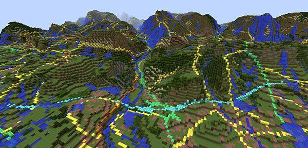 Le British Geological Survey crée la Grande-Bretagne dans Minecraft