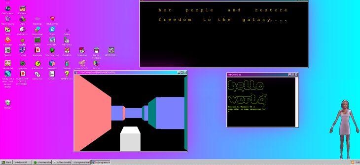 Quand le HTML remonte le temps - Winamp et Windows 93 envahissent le web