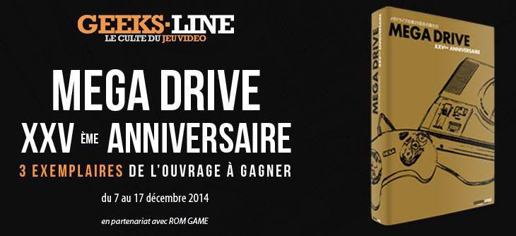 Concours - Gagnez le livre Mega Drive XXVème anniversaire