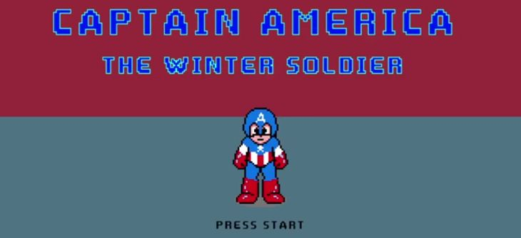 Captain America Winter Soldier 8 bits