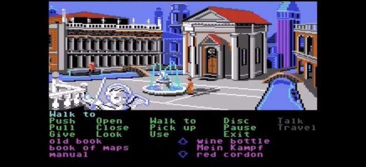 Indiana Jones sur Commodore 64 avance à pas de géant