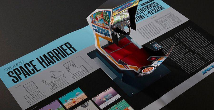 SEGA Arcade : Pop-Up History - des bornes mythiques dans un livre en relief !