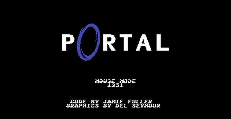 Portal - téléportation en cours sur Commodore 64