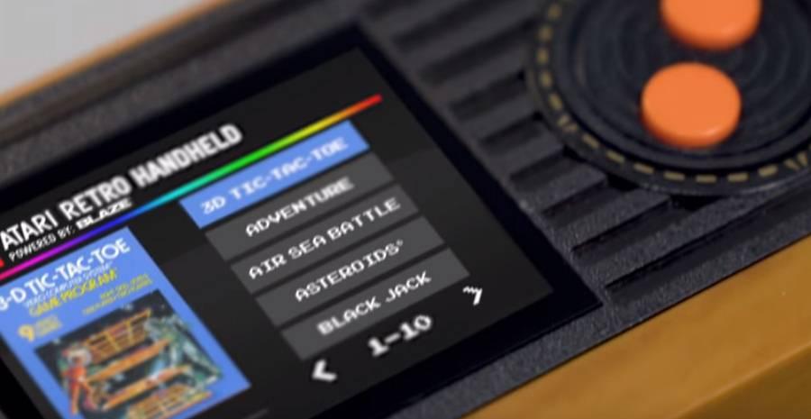 Atari Retro Handheld - jeu de mains jeu de vilain