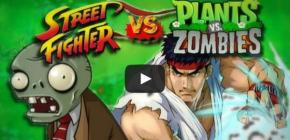 Street Fighter VS. Plants VS. Zombies - Un Mashup aux plantes