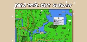 New York City Super Mario World Poster