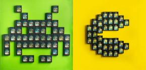 Des cartouches Atari 2600 qui servent de Lego
