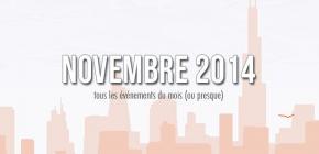 Novembre sur un plateau d'argent - agenda des événements jeux vidéo