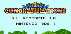 Grand concours - qui a gagné la Nintendo 3DS XL ?