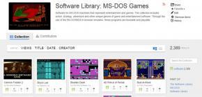 The Internet Archive - 2400 jeux dos jouables en ligne gratuitement