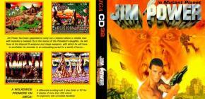 Jim Power sur Amiga CD32 - JCVD sur la jaquette