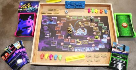 Space Race - le jeu de société du rétrogaming prend du relief !