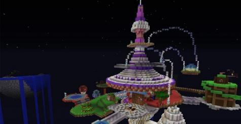 Super Mario Galaxy recréé dans Minecraft !
