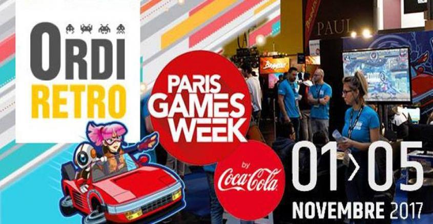 Ordirétro investira la Paris Games Week 2017 avec Rétro vers le futur