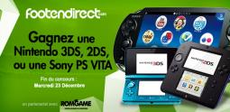 Concours Noel - remportez une Nintendo 3DS, une 2DS ou une Sony PS Vita au choix
