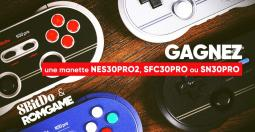 Concours 8Bitdo France - des manettes retro NES30PRO2, SFC30PRO et SN30PRO à gagner !