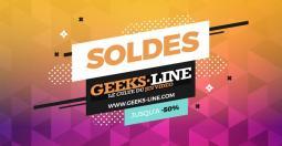 Jusqu'à -50 % sur tout le catalogue Geeks-Line !